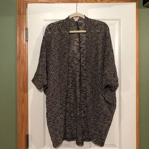 Mossimo Grey Patterned Cardigan